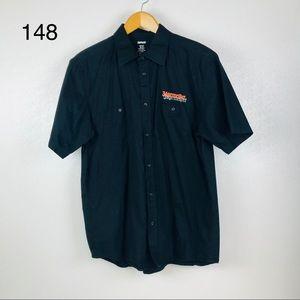 Jagermeister Black Button Down Short Sleeve Shirt